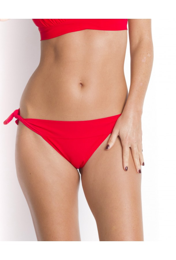 Bikini Bottom to adjust and tie Diva PAIN DE SUCRE Red - Uni Life