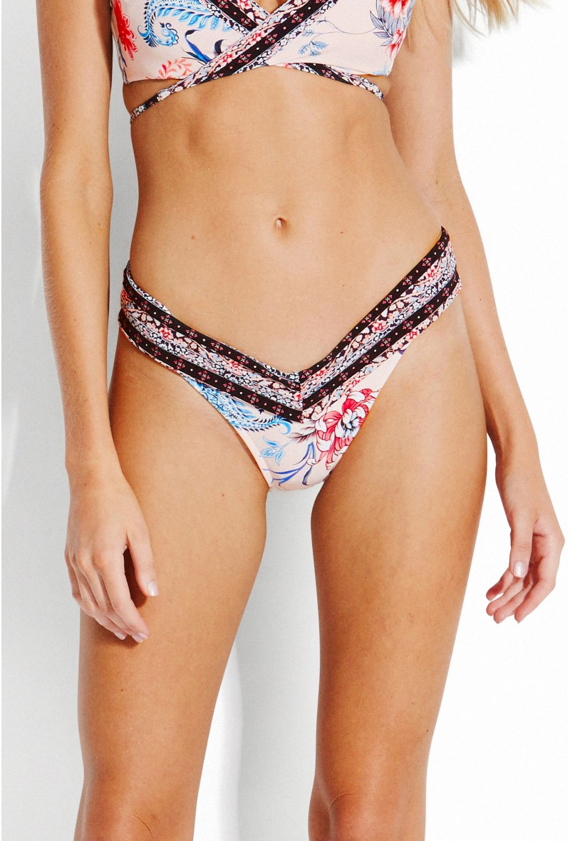 83db341caef 3 pictures · SEAFOLLY , High Cut Bikini bottom, Petal - Water Garden ...