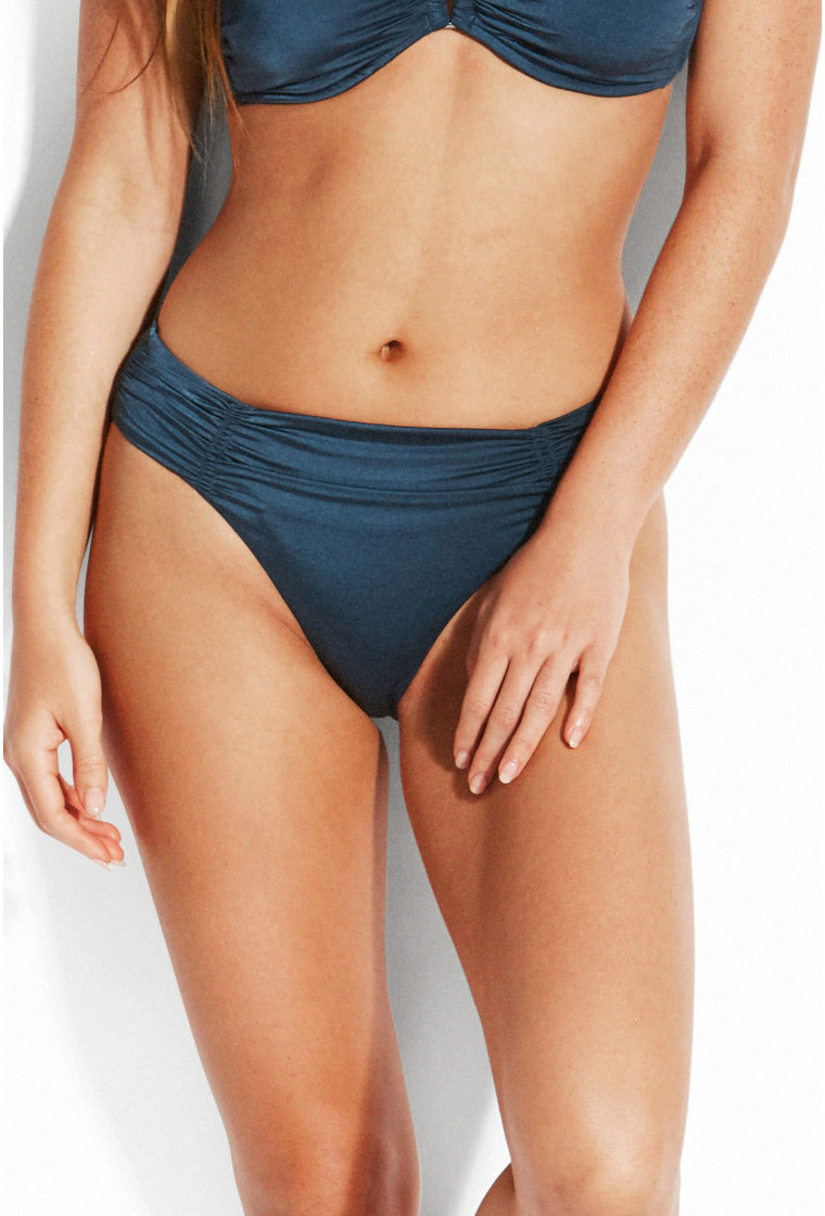 Bas de Bikini Twist SEAFOLLY, Bleu - Shine On