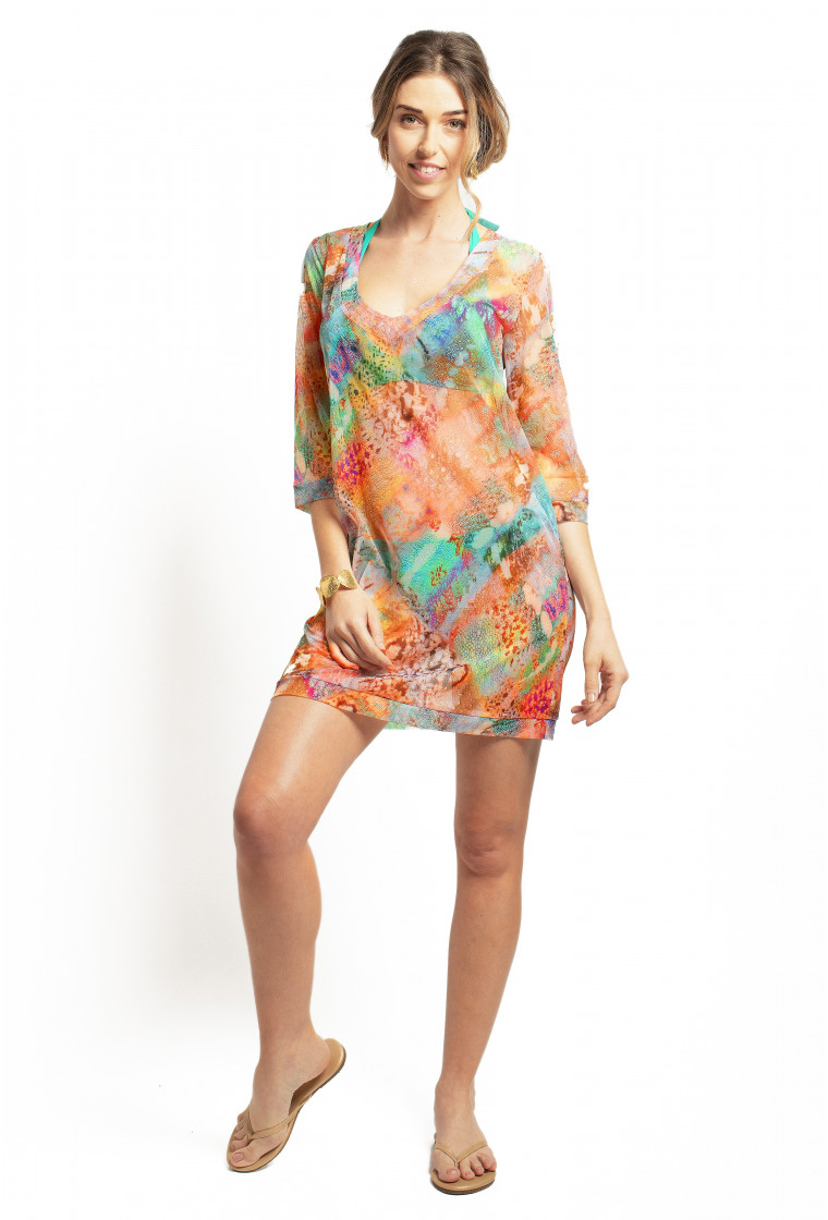 Short Beach Dress V-neckline Nessa PAIN DE SUCRE, Delire