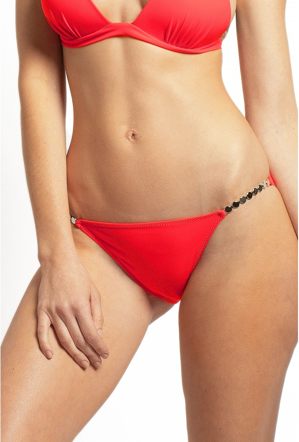Thin Bikini Bottom with jewels Ciron PAIN DE SUCRE, Red