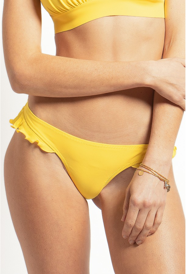 Bikini Bottom with Large frills, PAIN DE SUCRE, Yellow - Alala