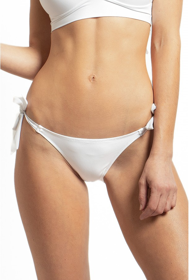 Bikini Bottom to adjust and tie Onyx PAIN DE SUCRE, White - Uni Life