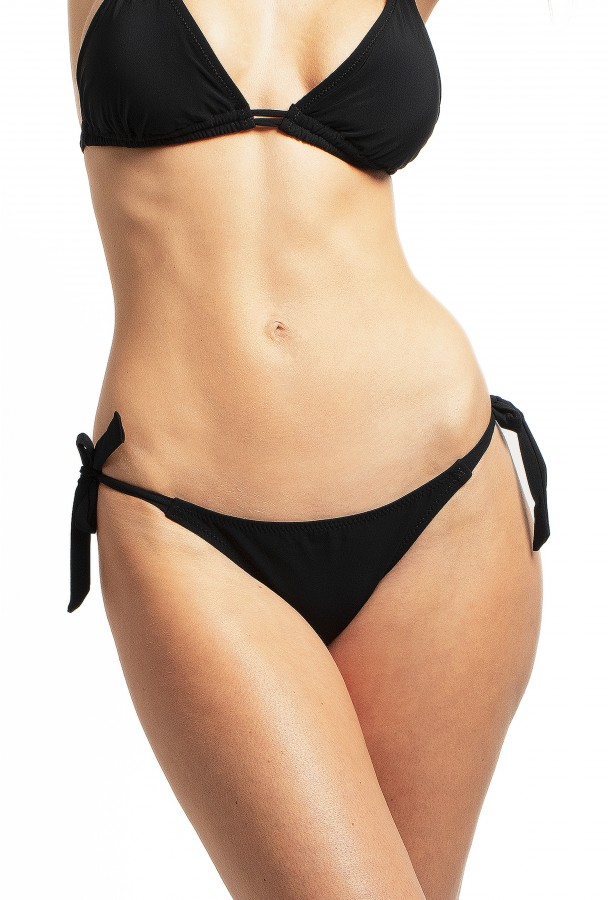 Bikini Bottom to adjust and tie Onyx PAIN DE SUCRE, Black - Uni Life