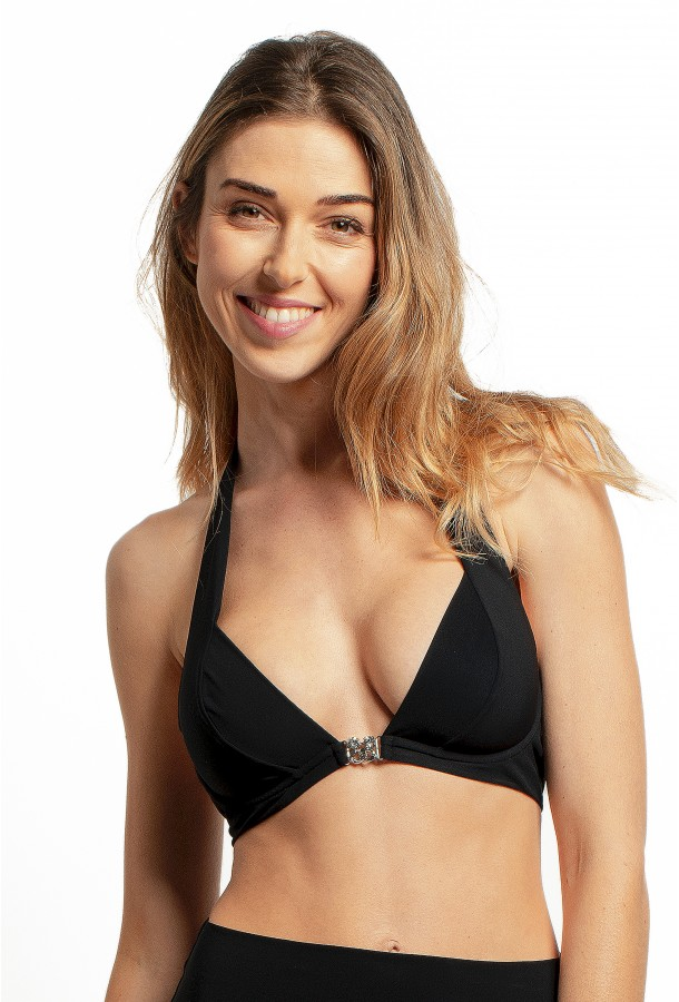 Bikini Top Jewels PAIN DE SUCRE, Black - Bryana