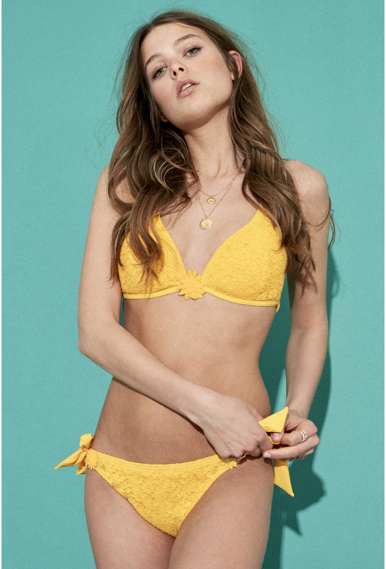 Bikini Set Triangle AMENAPIH, Yellow - Amaretto