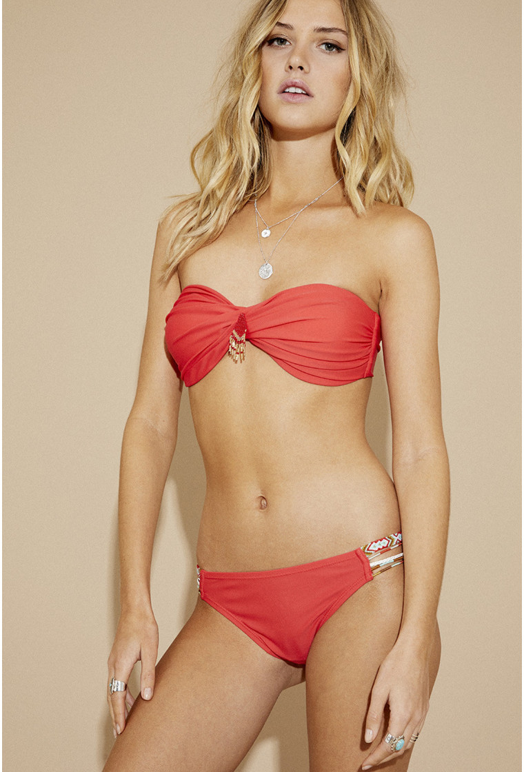 Two-piece swimsuit Bandeau, AMENAPIH, Red - MySwim