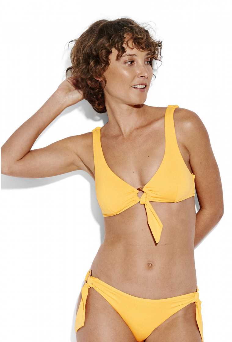 SEAFOLLY, Active Ring Front Crop Top Bikini Top, Buttercup