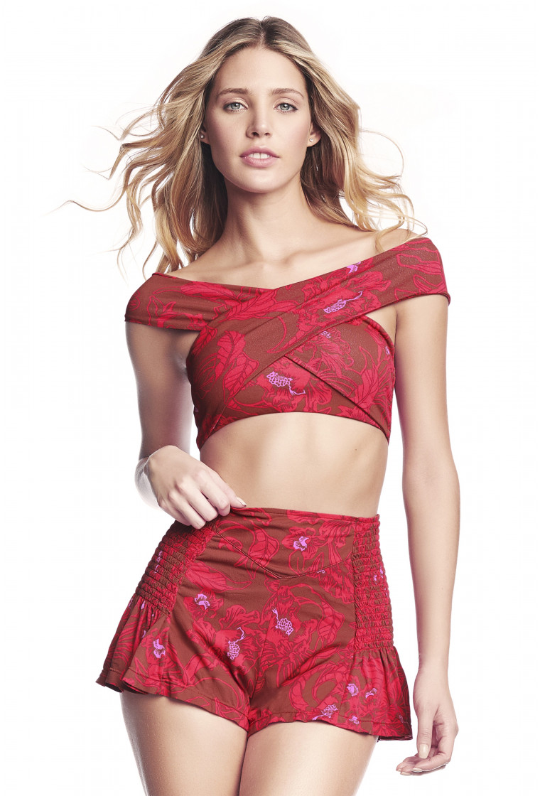 MAAJI Scarf Crop Top, Red - Easy Breezy