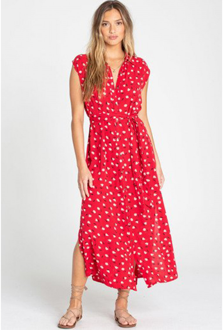 Robe longue BILLABONG, Rouge - Little Flirt
