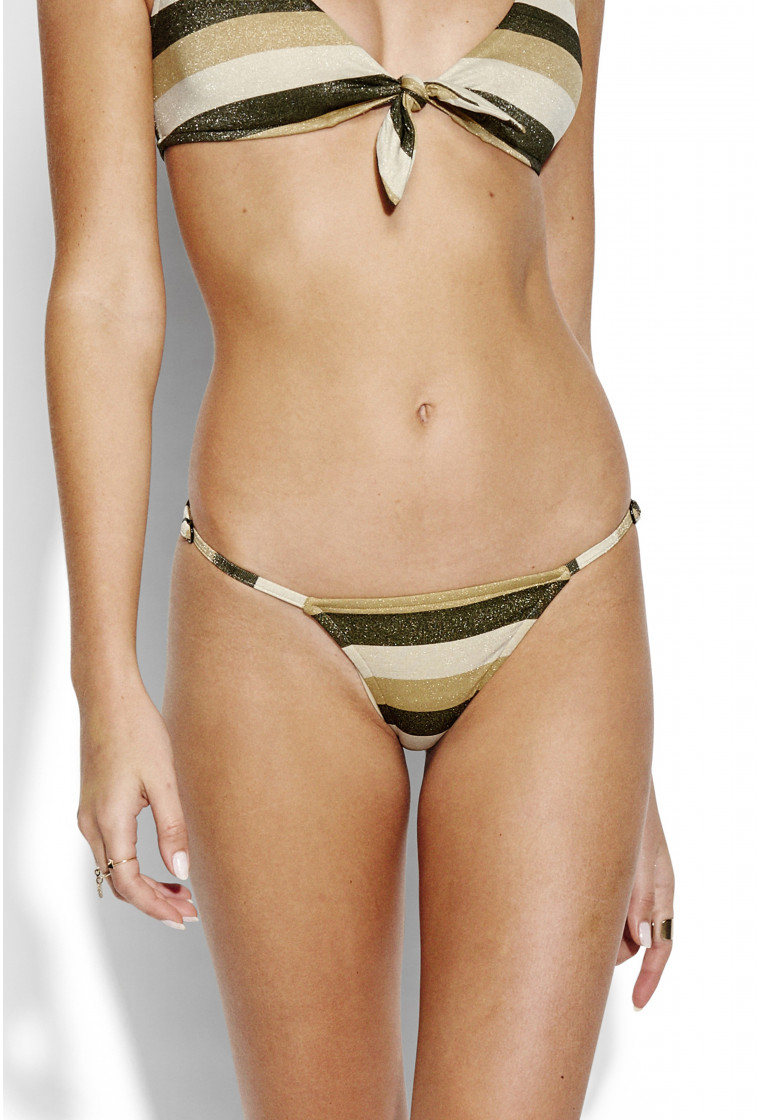 SEAFOLLY , Rio bikini bottom, Lurex Gold - SunsetStripe