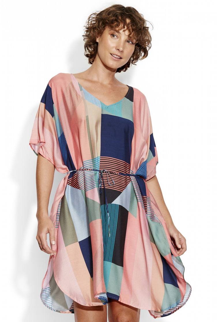 Kaftan, SEAFOLLY, Multicolored Print - Modern Art Kaftan