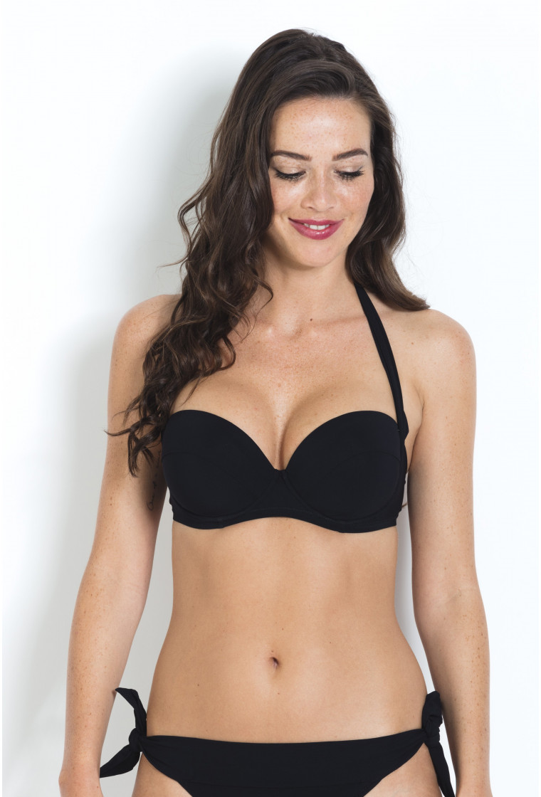 Bikini top with balconette Miles PAIN DE SUCRE Black - Uni Life