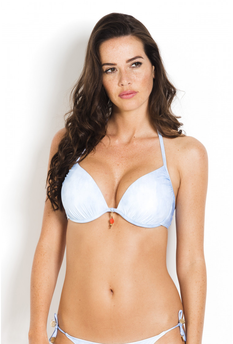 Bikini Top B-Cup WATERCULT Light Blue Sunbleached - Offshore Denim