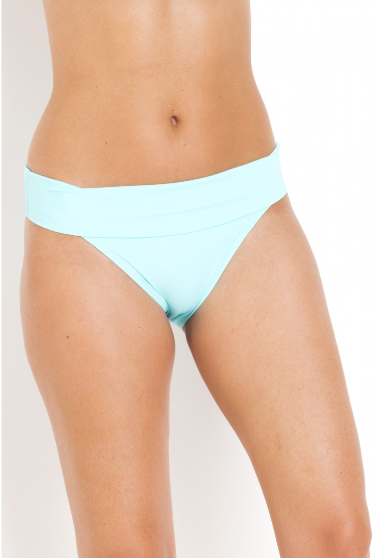 High-Waisted Bikini Bottom reversible Tobago PAIN DE SUCRE Lagoon