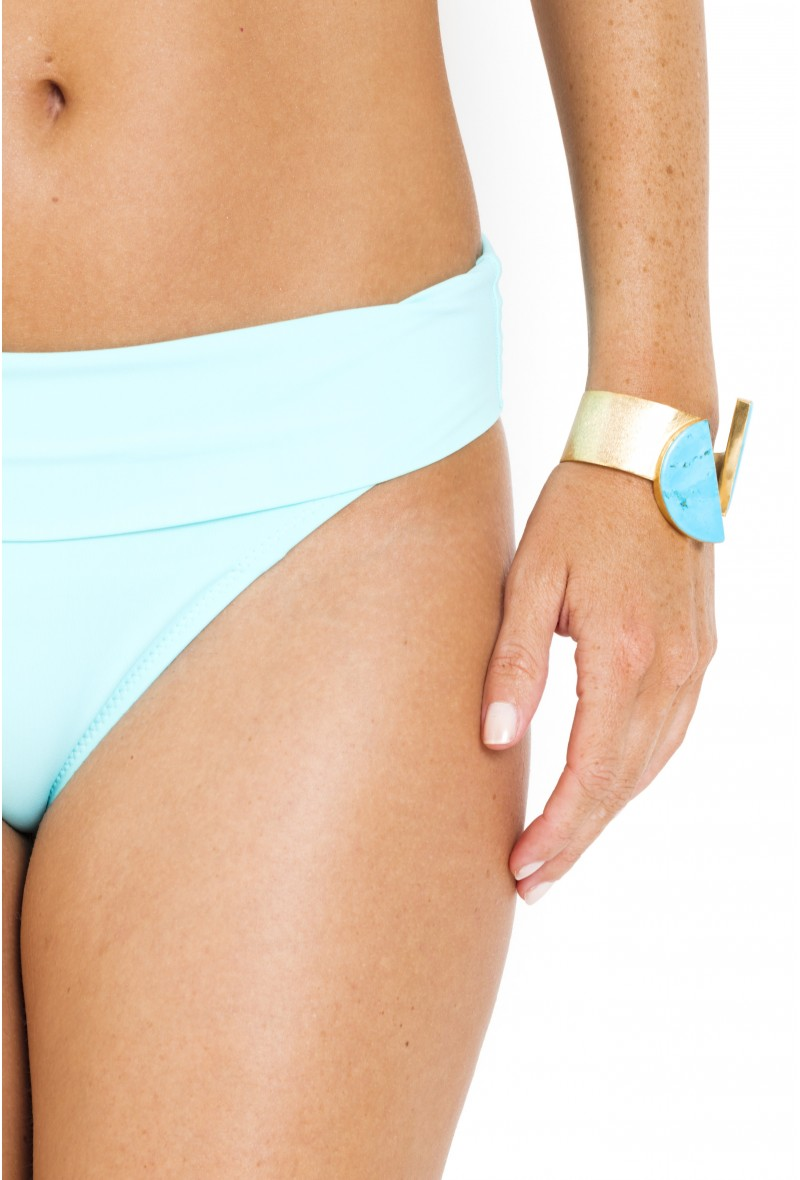High-Waisted Bikini Bottom reversible Tobago PAIN DE SUCRE Lagoon Pain De Sucre