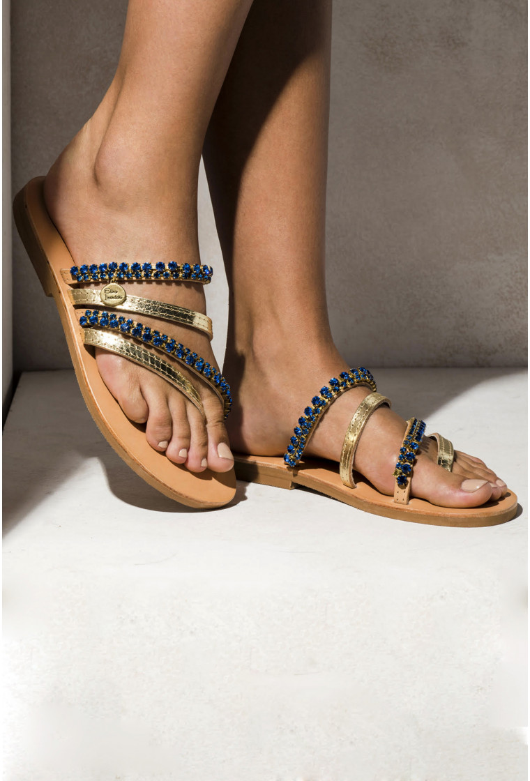 Leather sandals Asteroid, ELINA LINARDAKI