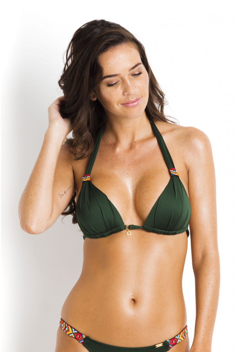 Triangle Bikini Top Push Up BANANA MOON Khaki - Niko Ninabell