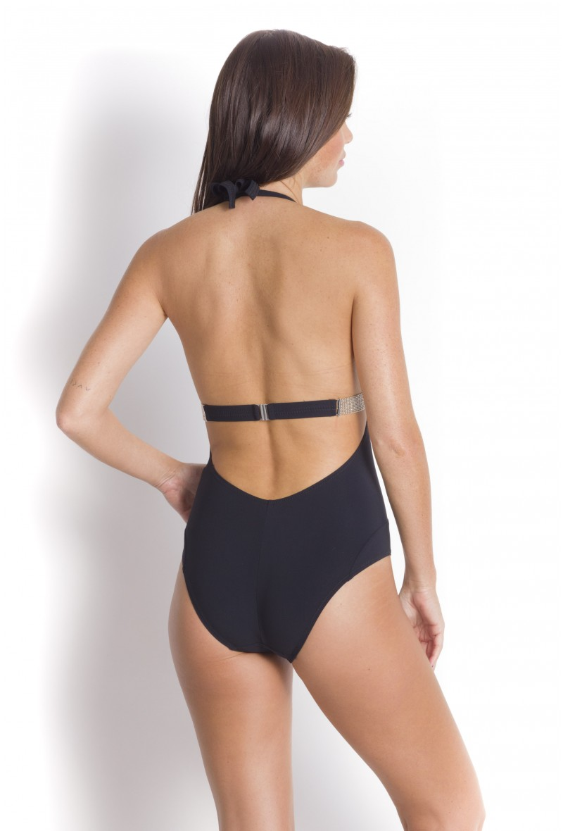 Triangle with jewels Swimsuit, Black, Milos Pain De Sucre