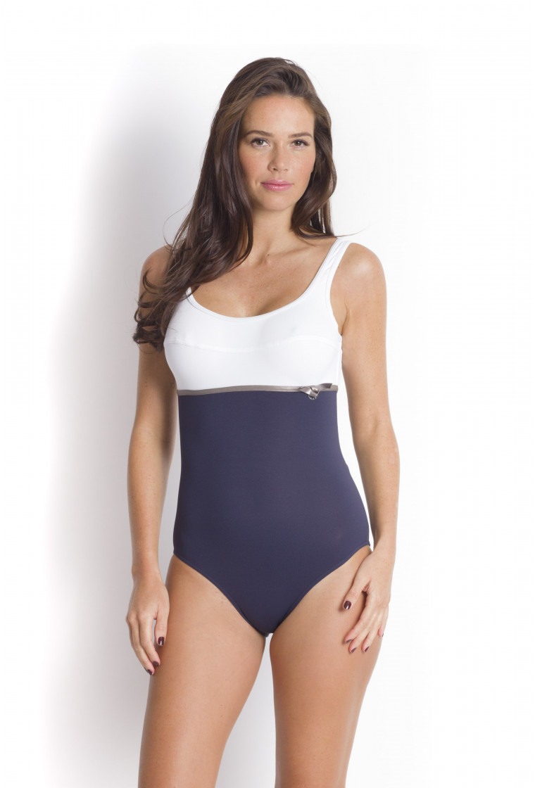 LIVIA, Shaping swimsuit, Blue -Megranie Tamarindo
