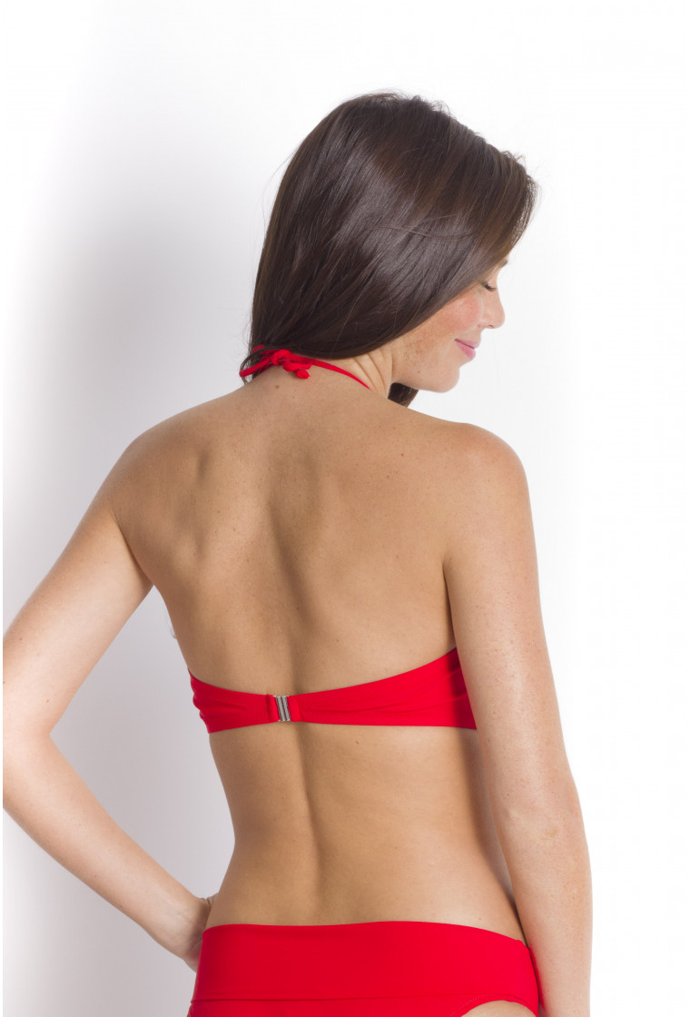Haut de bikini Bandeau, PAIN DE SUCRE, Rouge - Mayor