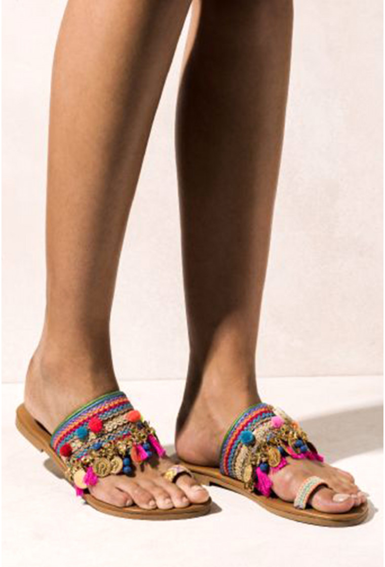 Leather Sandals Jaipur, ELINA LINARDAKI